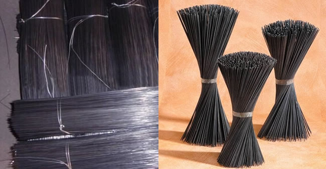 Bale Wire Ties : Straight cut to length and looped baling tie wire