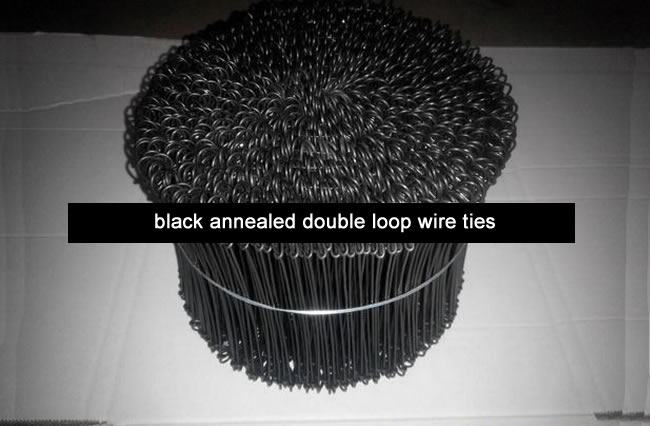 605c5196fcda Black Annealed Soft Bar Ties. Construction Steel Structure Fixing Wire Tie.  Double Loop ...